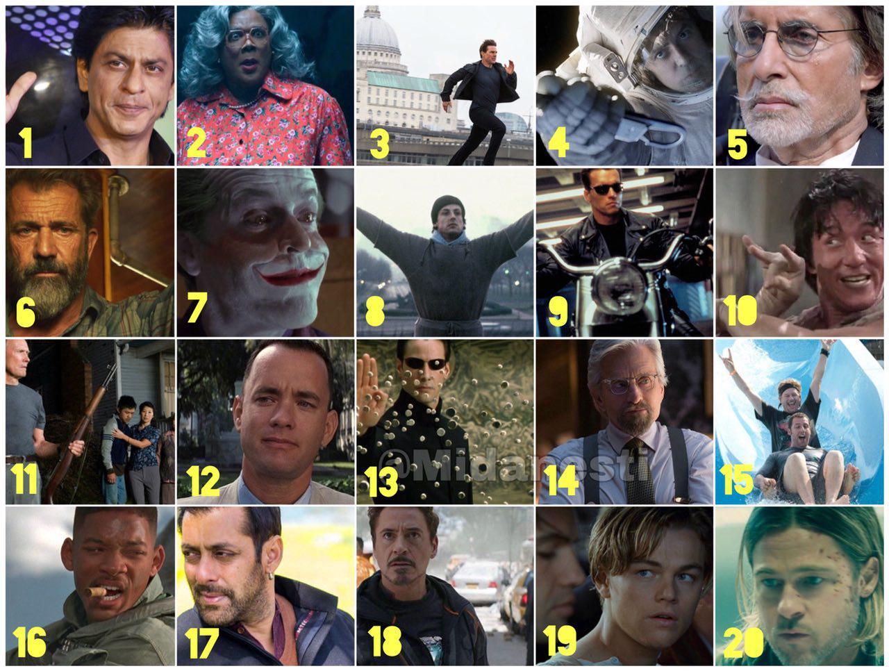 ثروتمندترین بازیگران مرد سینمای جهان رو بشناسید :)
